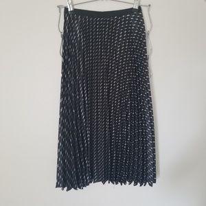 Zara basics pleated midi skirt